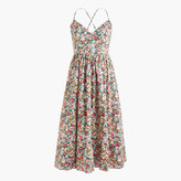 J.Crew Petitelace-up back dress in Liberty® Thorpe floral