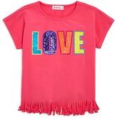 Design History Girls' Fringed Love Top - Little Kid