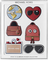 MICHAEL Michael Kors Stick To Glamour Leather Sticker Pack, Set of 6