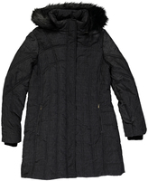 Weatherproof Black Faux Fur-Trim Polyfill Puffer Coat