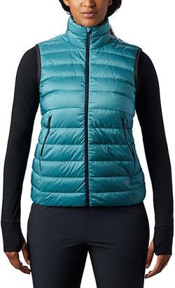 Mountain Hardwear Women's Outerwear Vests 407-Dark - Dark Zinc Blue Rhea RidgeTM Down Puffer Vest - Women