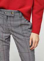 MANGO Check crop trousers