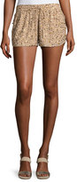 Joie Joselle Sequin Drawstring Shorts, Nude
