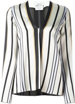 Forte Forte striped V-neck blouse - women - Viscose - II