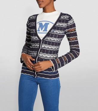 M Missoni Long-Sleeved Stripe Cardigan