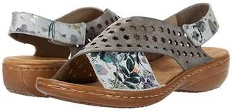 Rieker 60826 Regina 26 (Off-White/Metallic/Grey) Women's Shoes