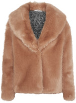 Opening Ceremony Ribbed knit-paneled faux fur jacket