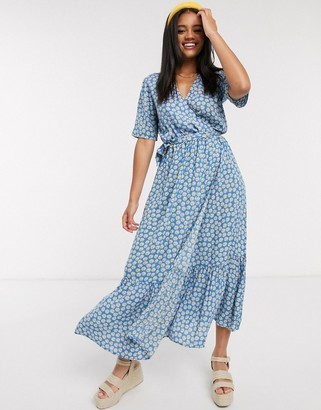 Y.A.S daisy wrap maxi dress