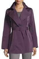 Lafayette 148 New York Hadley Short Trench Coat, Dark Purple, Plus Size
