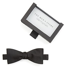 The Men's Store at Bloomingdale's Solid Satin Self-Tie Bow Tie - 100% Exclusive