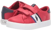 Polo Ralph Lauren Geoff II EZ (Toddler) (Red Tumbled/White/Navy/Royal/Navy Pony Player) Boy's Shoes
