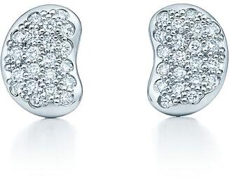 Tiffany & Co. Elsa Peretti Bean Design earrings in platinum with diamonds