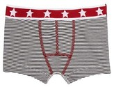 Petit Bateau Boys cotton milleraie-striped boxer with starred waistband