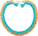 Aurelie Bidermann yellow gold and turquoise Do Brasil Necklace