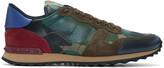Valentino Multicolour Rockstud Camouflage Sneakers