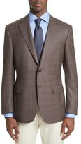 Canali Men's Siena Classic Fit Check Silk & Wool Sport Coat