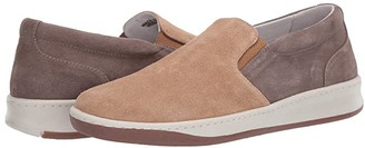 Eleventy Suede Slip-On Sneaker (Taupe/Tan) Men's Shoes