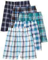 Fruit of the Loom Men's 5-Pack Plaid Boxer Shorts Boxers Underwear 2XL