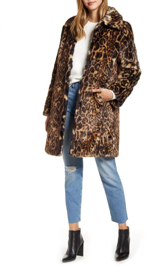 Betere Rachel Parcell Faux Leopard Fur Coat - ShopStyle VI-98