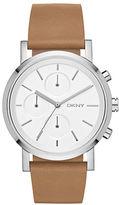 DKNY SoHo Light Brown Leather Chronograph Watch