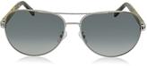 Ermenegildo Zegna EZ0010 14B Chrome Polarized Aviator Men's Sunglasses