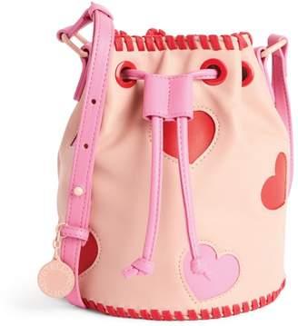 Stella McCartney Hearts Patch Bucket Bag