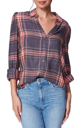 Paige Enid Plaid Button-Up Shirt