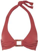 Melissa Odabash Paris Embellished Halterneck Bikini Top - Brick
