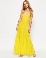 Asos Cami Maxi Dress with Pleated Skirt