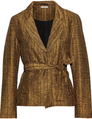 Mes Demoiselles Sledge Belted Metallic Tweed Jacket