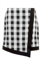 Select Fashion Fashion Womens Grey Gingham Wrap Mini Skirt - size 10