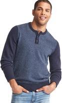 Gap Merino wool blend two-tone henley