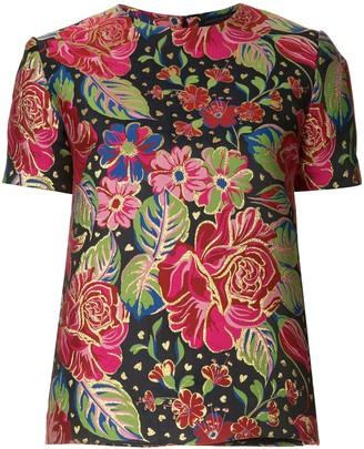 Manish Arora Short-Sleeved Floral Top