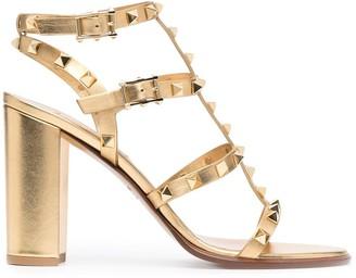 Valentino Metallic-Tone Heeled Sandals