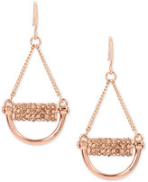 Kenneth Cole New York Rose Gold-Tone Pavé Chandelier Earrings