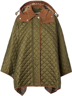 Burberry Quilted Hooded Cape
