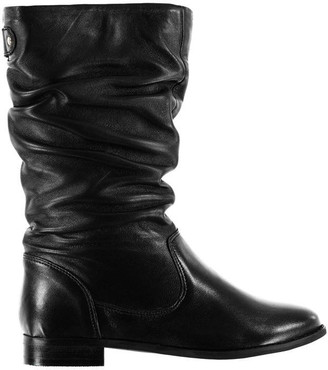 Linea Ruched Calf Boots