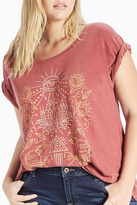 Lucky Brand Lotus Graphic Tee