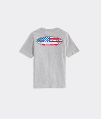 Vineyard Vines Boys Americana Surf Logo Short-Sleeve Pocket Tee