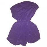 Maje Spring Summer 2018 Purple Silk Dresses