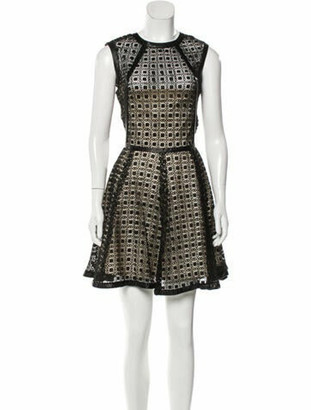 Alexis Lace Pattern Mini Dress Black