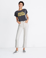 Madewell Slim Demi-Boot Jeans in Cloud Lining
