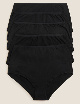Marks and Spencer 5 Pack No VPL Modal Cotton Full Briefs