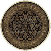 Surya Rug TJ1047-8RD Round Black Hand Knotted Area Rug 8 ft.
