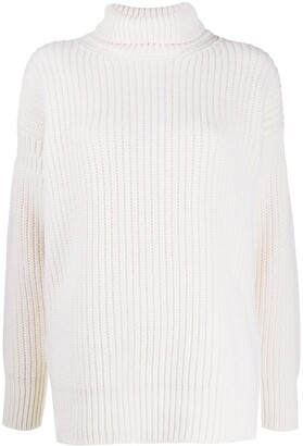 Marni Chunky Knit Roll Neck Jumper