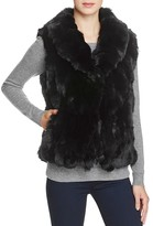 Surell Rabbit Fur Vest with Collar