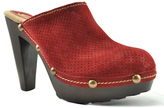 Sbicca Wine Lettie Leather Clog