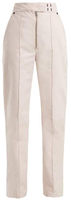Isabel Marant Nuk High Rise Straight Leg Jeans - Womens - Light Pink