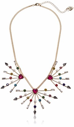 Betsey Johnson GBG) Women's Stone Spray Frontal Necklace