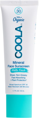 Coola R) Suncare Mineral Face Matte Finish Sunscreen Lotion SPF 30